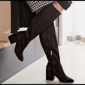 NIB Sam Edelman Valda Suede Black Boots